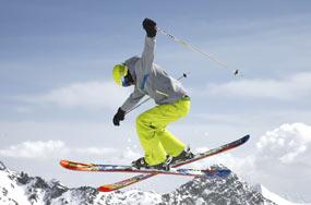 Marken Skier inkl. Zubehör