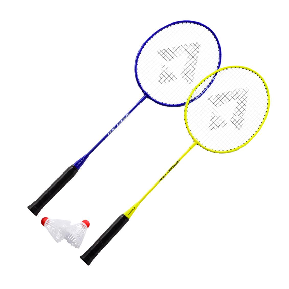 Tecno Pro Badminton-Schläger Set Speed 200 2 Schläger und 2 Federbälle